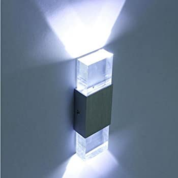 White Light Hazigoon LED Wall Light,Aluminum Alloy Wall Lamp for Decoration,Apply to The Interior of The Hall Or Aisle Or The Wall of The Room,Cylindrical Two-Way Light