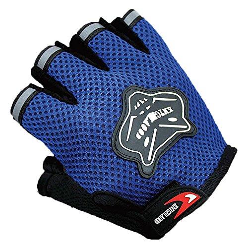 Ciclo dei guanti Guanti per pesi fitness palestra donne e gli uomini Anti Slip apretones di allenamento dell'esercizio di maglia Guanti, blu