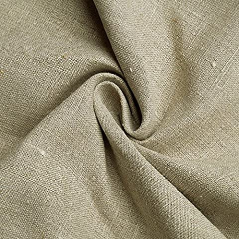 Albert - tissu de décoration en lin - épais naturel - composé de fibres lin (au mètre)