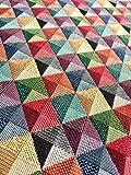 Rhombus quadratisch Print Gobelin Stoff–Material für Polsterung Vorhänge 140cm–Holand Big Square Print Jacquard (Meterware)