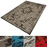 casa pura® Vintage Teppich | viele Größen | im angesagten Shabby Chic Look | für Wohnzimmer, Schlafzimmer, Flur etc. | beige (80x150 cm)