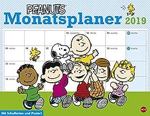 Peanuts Monatsplaner - Kalender 2019