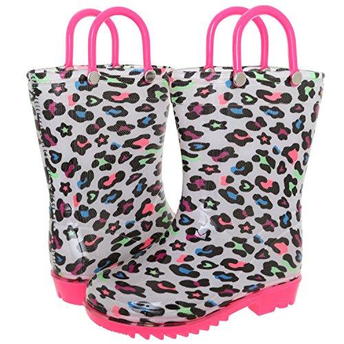 Capelli New York Toddler Girls Hearts and Stars Printed Rain Boot