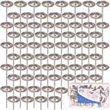 """SPTA 80tlg 22mm T-Stil Edelstahl-Drahtbürsten 1/8""""(3mm) Schaft fur Dremel,Proxxon Dremel Kabelgebundenes Multifunktionswerkzeug Schleifen, Schleifen, Polieren--3mm Schaft"""