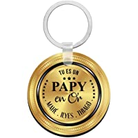 Porte clés à personnaliser avec prénons PAPY en or - cadeau personnalisé papy - porte clé papy - idée cadeau fête des…
