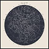 JUNIQE® Poster encadré 50x50cm Astronomie & cosmos - Design 'Map n°XIV' (Format : Carré) - Affiche encadrée, Affiche sous cadre & Poster sous cadre par des artistes indépendants - Affiches d'astronomie, planètes et cosmos - créé par Astër