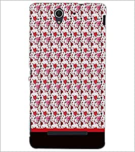 PrintDhaba Heart Pattern D-1890 Back Case Cover for SONY XPERIA C3 (Multi-Coloured)