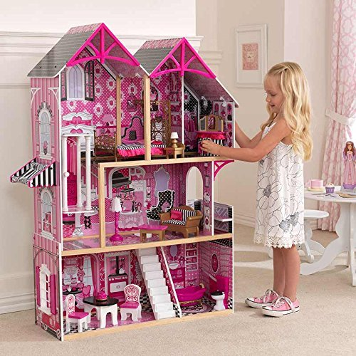 KidKraft Couture Dollhouse + 14 Pieces of Furniture (3+ Years) by KK