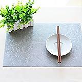 Dicke wasserdichte Tischmatte Tischmatte, rechteckige Tasse Matratze Pad Pad Pad Matte Wärmedämmung Kissen Europäische Tischdecke Matte, silbrig