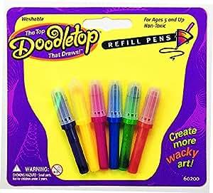 University Games - Puzzles - 60200 - Doodletops - Toupies-Crayons, Blister De 6 Recharges Feutres