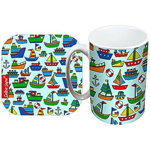 Selina-Jayne barche Edizione limitata Tazza e progettista Set di (Barche Bere)