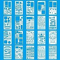Bullet Journal Plantilla Dibujo 20 piezas, de plástico, para cuaderno, diario, álbum de Recortes, Manualidades Stencil Plantillas Para Accesorios Scrapbooking