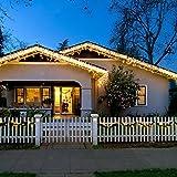 Samoleus 150er LED Solar Kupferdraht Lichterkette Warmweiß 15 Meter, Wasserdichte Solar Außen Sternen Lichterketten Beleuchtung für Garten, Wohnungen, Tanzen, Weihnachtsfeier, Magische Beleuchtung-Dekoration, Schlafzimmer, Fenster (Warmweiß-15M)
