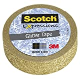 Scotch Exp Tapes Glitter C514-Gld WE R1 - Rollo de cinta, color oro
