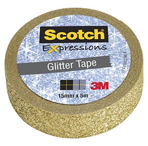 Scotch Exp Tapes Glitter C514-Gld WE R1 - Rollo de cinta, color oro
