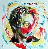 PyB David Bowie Pop Street Art Zeitgemäße Tafel
