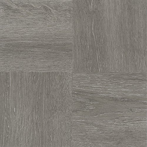 Achim Imports FTVWD22945 Achim Home Imports Tivoli Charcoal Grey Wood 12 inch x 12 inch Self Adhesive Vinyl Floor Tile #229, (12 X 12 Vinyl Floor Tile)