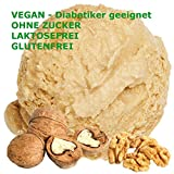 1 Kg Wallnuss Geschmack Eispulver VEGAN - OHNE ZUCKER - LAKTOSEFREI - GLUTENFREI - FETTARM, auch für Diabetiker Milcheis Softeispulver Speiseeispulver Gino Gelati