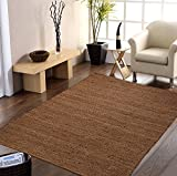 #8: Centra Home Indian Traditional Rug Collection... Handmade 100% Jute Rugs Brown 4x6ft