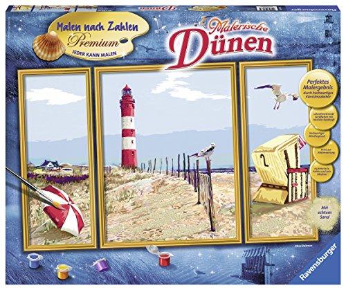 Ravensburger 28968 - Malerische Dünen - Malen nach Zahlen Premium Triptychon