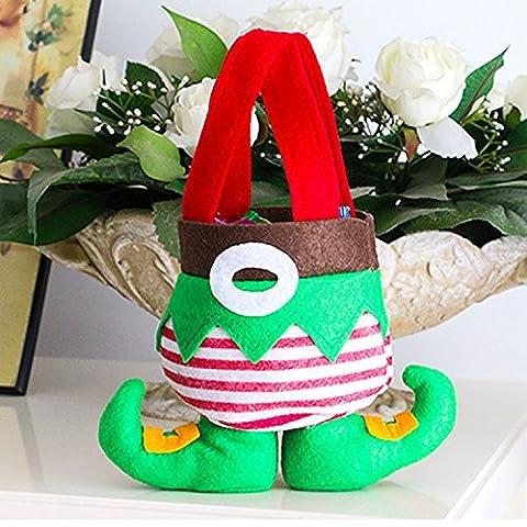 Christmas felt Bags Candy Geschenke Tasche für Kids Urlaub Gift Xmas Tree Dekoration von yunhigh