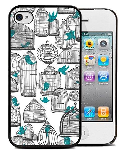Coque silicone BUMPER souple IPHONE 5c - Bird oiseau vintage motif 4 DESIGN case+ Film de protection OFFERT