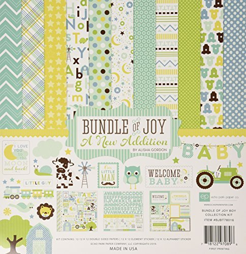 Echo Park Paper Company Bundle of Joy Boy 2 Collection Kit by Echo Park Paper (Echo Paper-bundle Of Joy-boy Park)