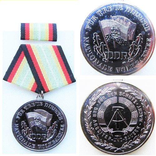 Unbekannt NVA Verdienstorden  Für treue Dienste , Stufe Silber mit Blanko Urkunde, Original
