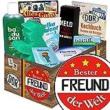 Bester Freund | Pflege Box | Geschenkbox | Bester Freund | Pflegepaket | 18 Geburtstag Geschenk bester Freund | mit Florena Creme, Elka Dent, Badusan und mehr