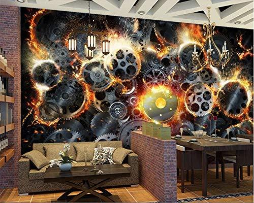 wallpaper Amerikanischen retro hot dampfer maschine getriebe tapete hintergrund wandmalerei papel de parede ()
