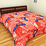 Superman Printed Kids Double Bed sheet -...