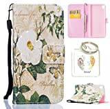Produkt-Bild: für Sony Xperia XA PU Leder Silikon Schutzhülle Diamant Handy case Book Style Portemonnaie Design für Sony Xperia XA + Schlüsselanhänger ( IUO? (2)