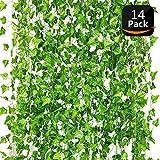 Lierre Artificiel-Plante Artificielle,Feuilles Artificielles,Faux Lierre pour Decoration Jardin