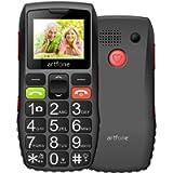Artfone Big Button Mobile Phone for Elderly Unlocked Senior Sim Free with SOS Emergency Button1400mAh Battery