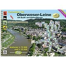 TourenAtlas Wasserwandern / TourenAtlas TA4 Oberweser-Leine: Oberweser-Leine - mit Quell- und Nebenflüssen