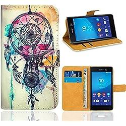 Sony Xperia M5 Housse Coque, FoneExpert Etui Housse Coque en Cuir Portefeuille Wallet Case Cover pour Sony Xperia M5