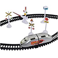 Big Size High-Speed Battery Operated Bullet Train Baby Toy Set Game with Tracks and Signals for Kids