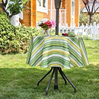 PartyDelight Outdoor Tablecloths With Zipper Umbrella Hole For BBQs, Gatherings, Coffee shop, Yard Parties, Dinner Patio.
