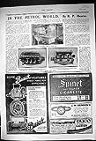 1917 Pilules Aériennes Britanniques de Foie de Bensons Jellicoe Carters de Cigarette de Buick de Moteurs
