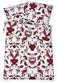 Carpe Sonno Elegantes Mako-Satin Hotelbettwäsche Set in Exklusiver Hotelqualität 135 x 200 cm Paisley-Muster Rot aus 100% Baumwolle Schlafkomfort – Hotel-Bettzeug mit Kopfkissen-Bezug