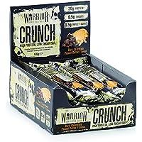 Warrior Crunch Riche En Protéines Faible Teneur En Glucides Barre, 64 g, Dark Chocolate Peanut Butter, Paquet...