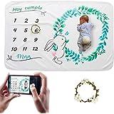 Hocaies Manta Bebe Manta Mensual Hito De Para Bebé Manta Bebe Personalizada Para Franela Adecuado para Regalos Originales par