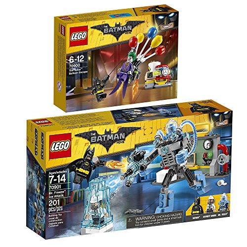 Joker Lego 2 Batman (The Lego Batman Movie 2er Set 70900 70901 Jokers Flucht mit den Ballons + Mr. Freeze Eisattacke)