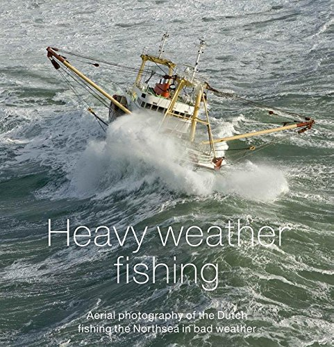 Heavy weather fishing: aerial photography of the Dutch fishing on the Northsea in bad weather