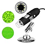 USB Mikroskop für Kinder 3 in 1 Digital Microscope, 1000 x Vergrößerung Magnification, mit 8-LEDs HD 1080P für PC...
