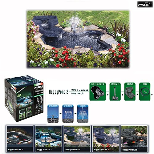 Happy pond kit 2 laghetto per giardino 275 lt laghetti for Laghetto preformato