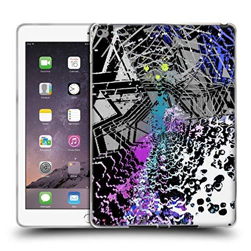 Offizielle Haroulita Kapputtes Glas Gemischte Designs 2 Soft Gel Huelle kompatibel mit iPad Air 2 (2014)
