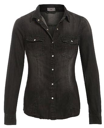 1add3ba1b99 SS7 New Women's Denim Shirt, Size 8 - 18: Amazon.co.uk: Clothing