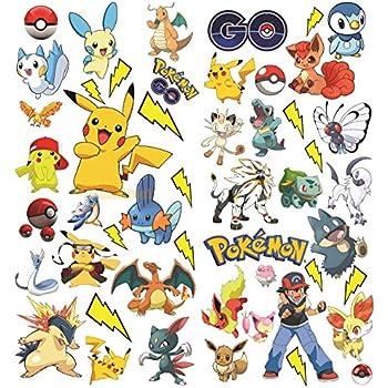 Pokémon Aller Avec Pikachu Stickers Muraux Autocollant Mural Vinyle Pour Enfants