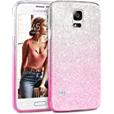 Coque Samsung Galaxy S5 /S5 NEO Paillette Pink Shading, TheBlingZ.® Housse Etui Protection Brillante Paillette Case pour Samsung Galaxy S5 /S5 NEO - Pink Shading